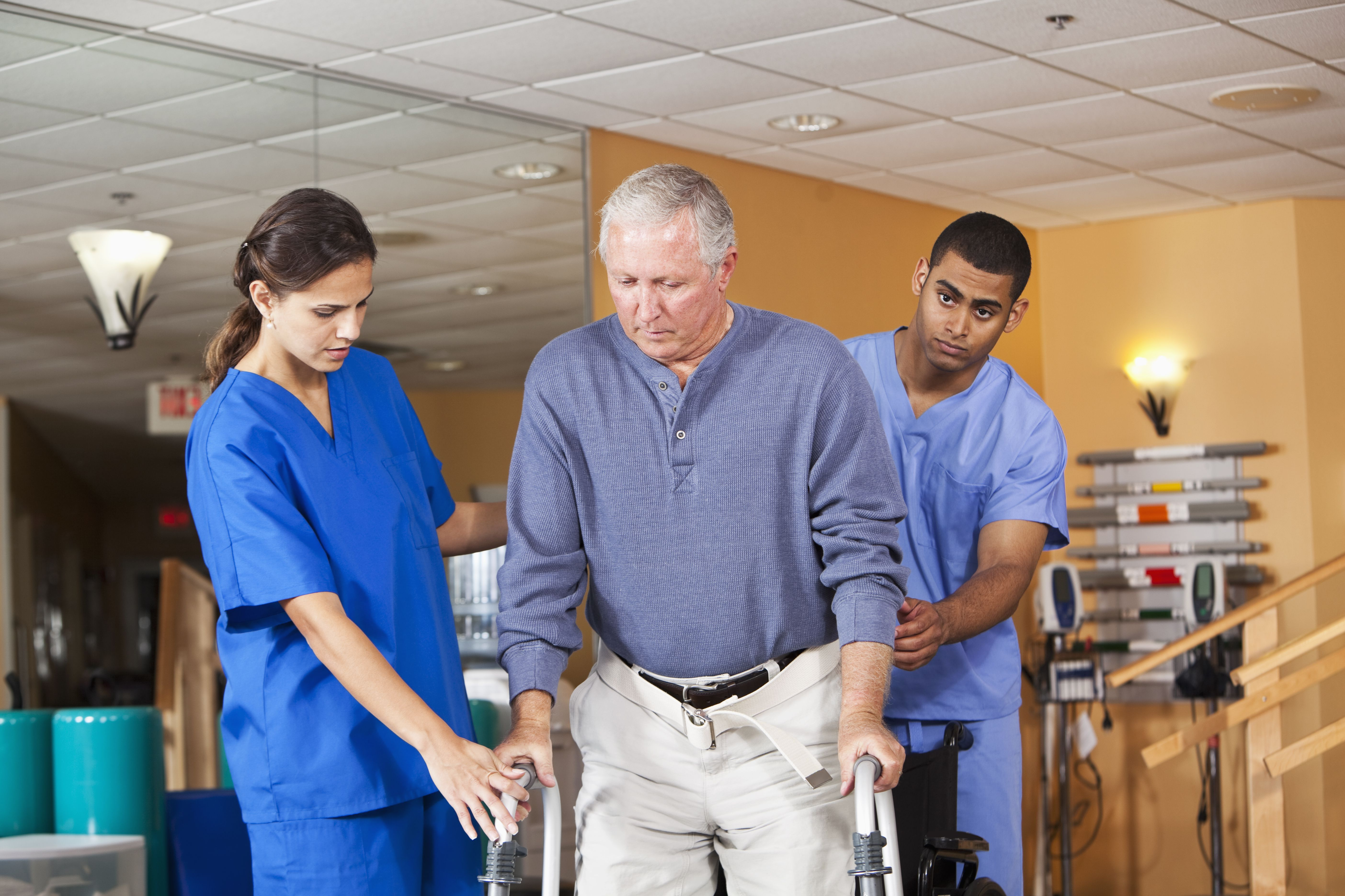 Occupational Therapy Aide with OT and Patient