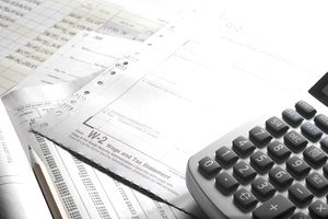 w-2 form with a calculator