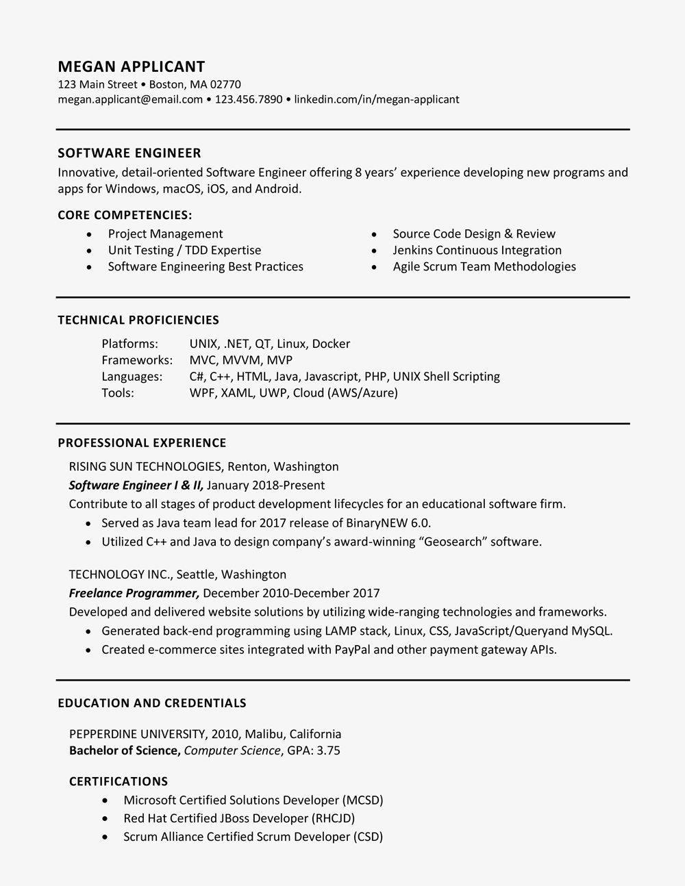 sample of skills and qualifications for a resume.html
