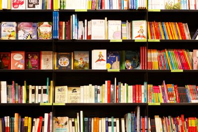 Books On Shelves In Bookstore