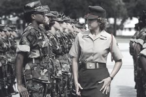 Marine Sergeant Inspecting Recruits