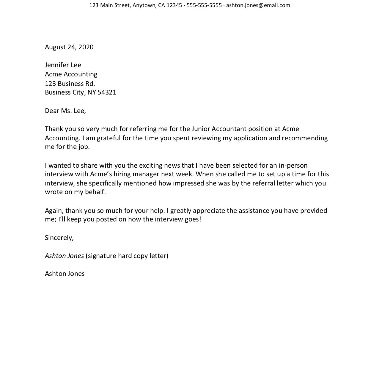 Sample Thank You Letter After Job Offer from www.thebalancecareers.com