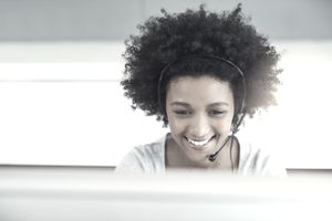 Work-at-home call center agent