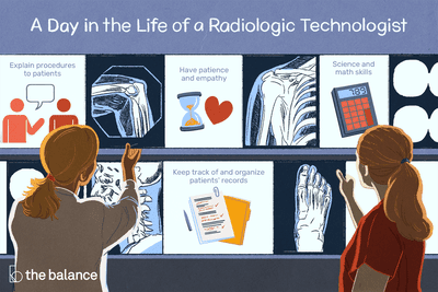 A day in the life of a radiologic technologist: Explain procedures to patients; have patience and empathy, science and math skills; keep track of and organize patients' records