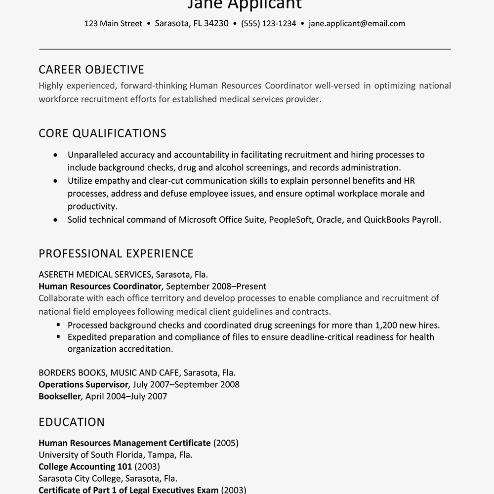human resource resume human resources resume example and writing tips 22501 | 2063277v1 5beb25e5c9e77c0026f61b6d