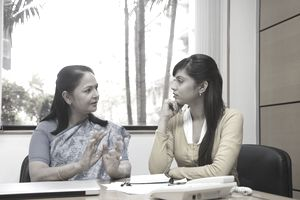Psychologist and client in a therapy session