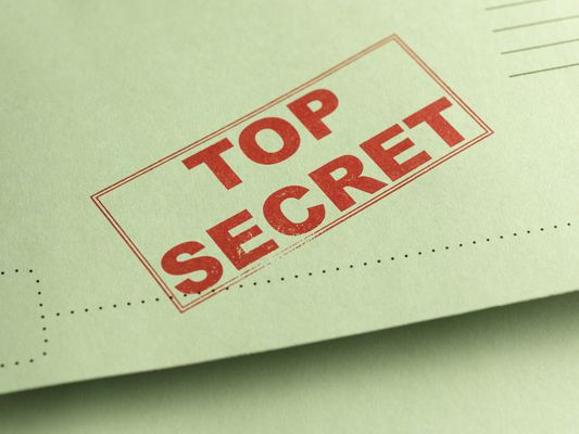 Top Secret stamp on file