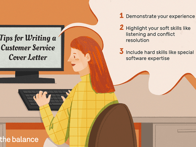 This illustration includes tips for writing a customer service cover letter including