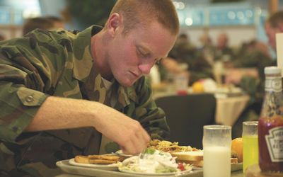 is food free in the military