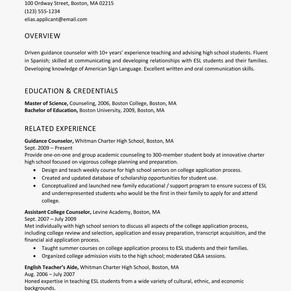 Brief Summary Of Background For Resume Examples Profile Many Job Openings