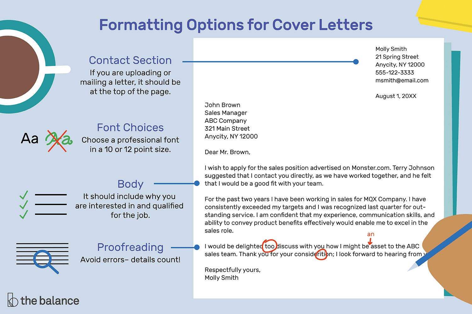 how to format a cover letter with examples. Black Bedroom Furniture Sets. Home Design Ideas