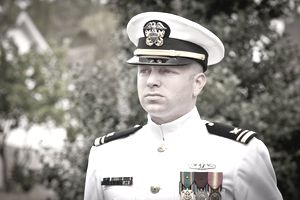 Naval Officer at a promotion ceremony