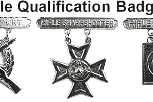 USMC Rifle Qual Badges