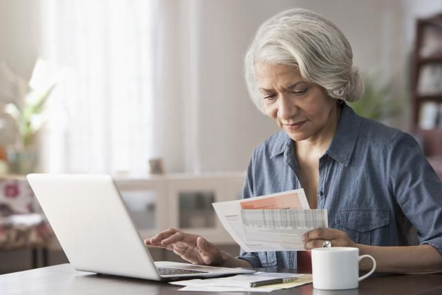 A woman contemplates her retirement
