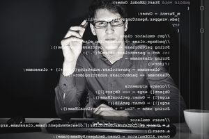 Software Developer Analyzing Code