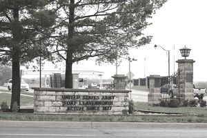 Fort Leavenworth gated entrance