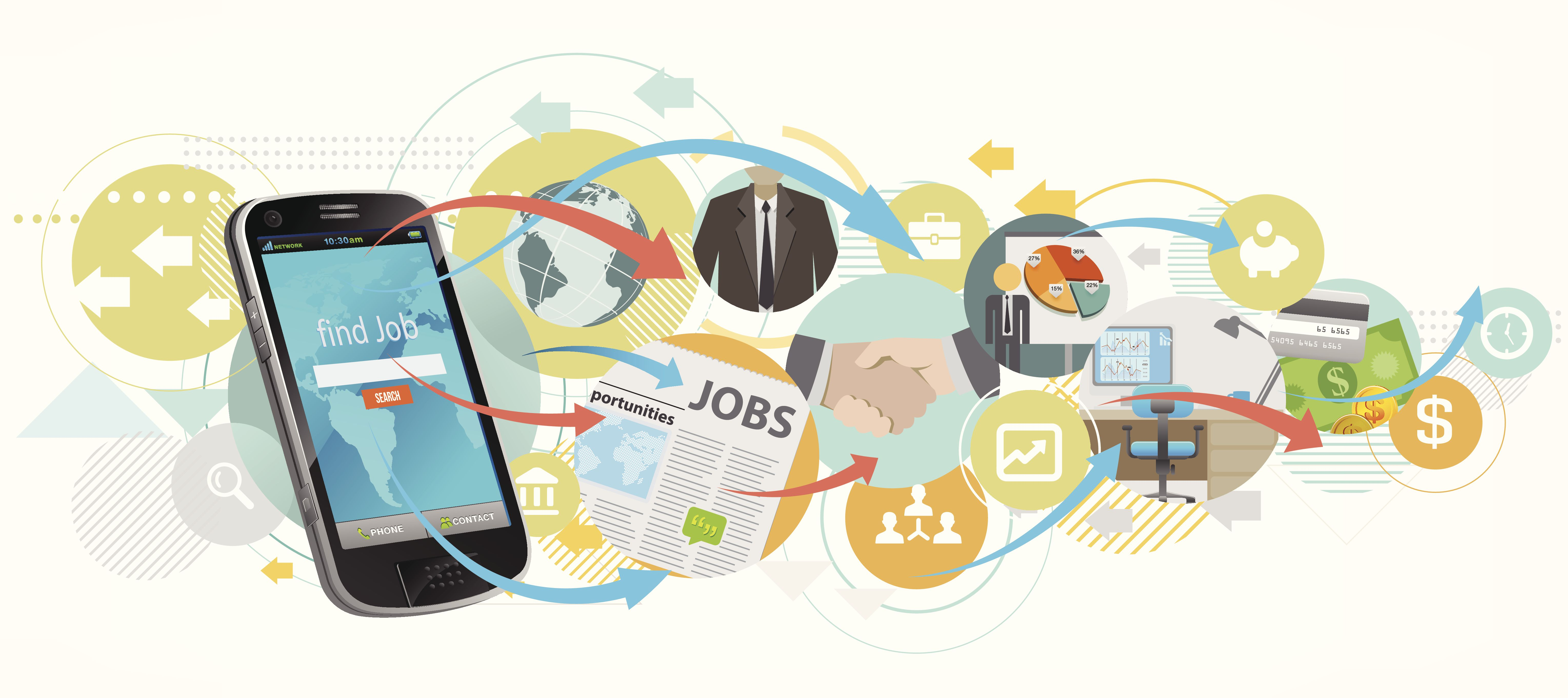 Search job by smartphone