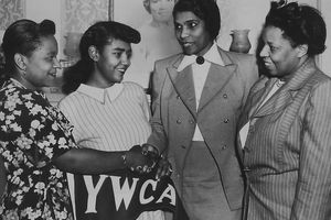Woman And Marian Anderson, important figures in YWCA history
