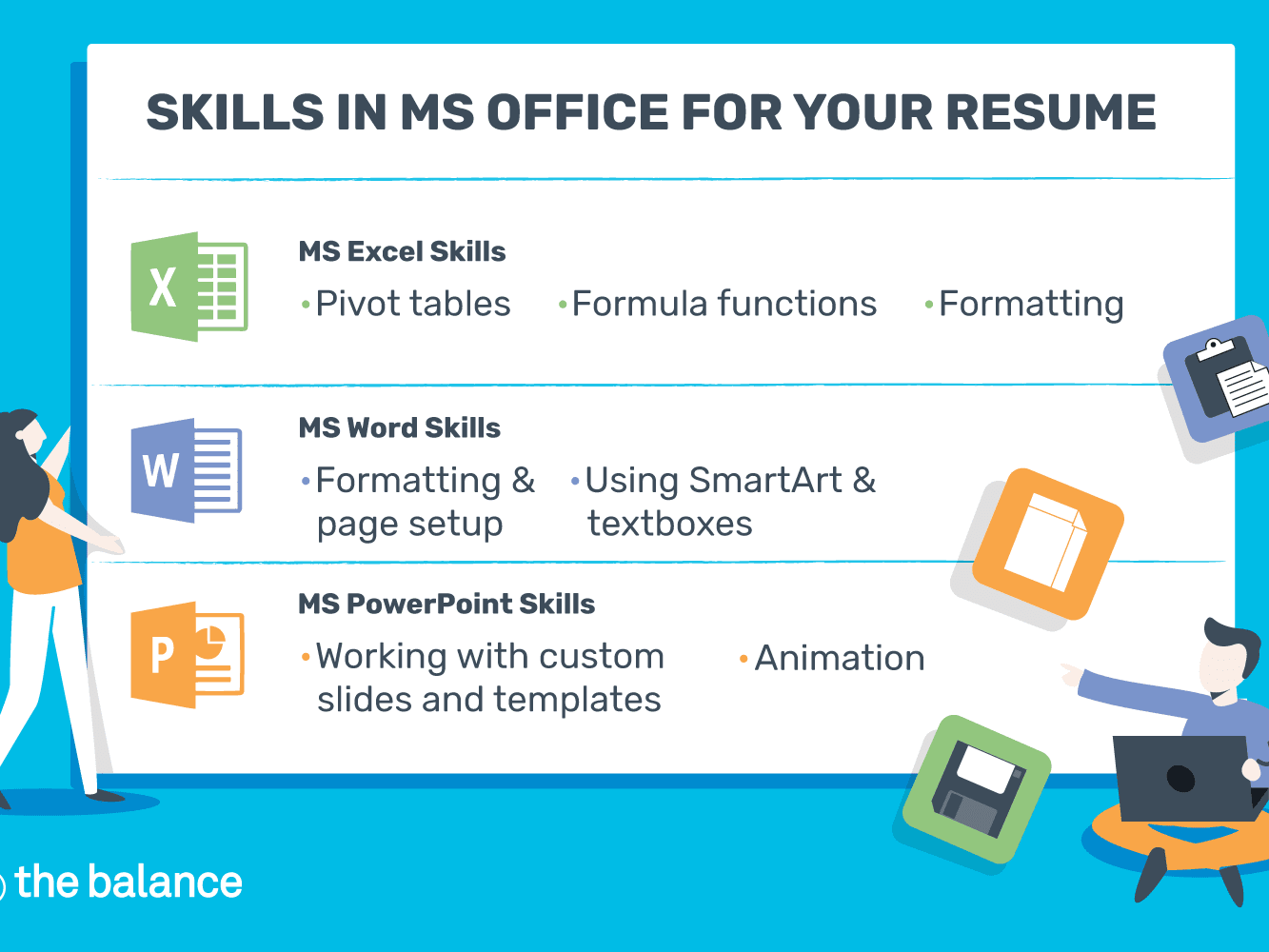 Microsoft Office Skills for Resumes & Cover Letters