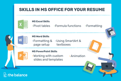 Microsoft Office Skills For Resumes Cover Letters