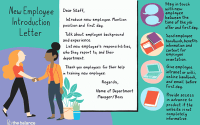 welcome a new employee with an introduction letter