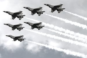 U.S. Air Force Thunderbirds Rehearse For Weekend Air Show