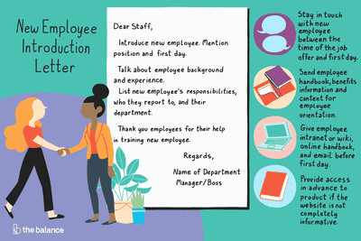 sample introduction letter for a new employee