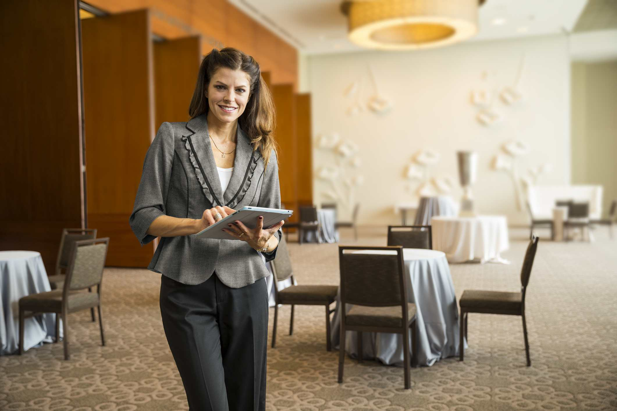 Woman planning an event in a hotel