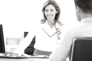 Picture of a female recruiter smiling