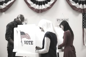 People voting on Election Day