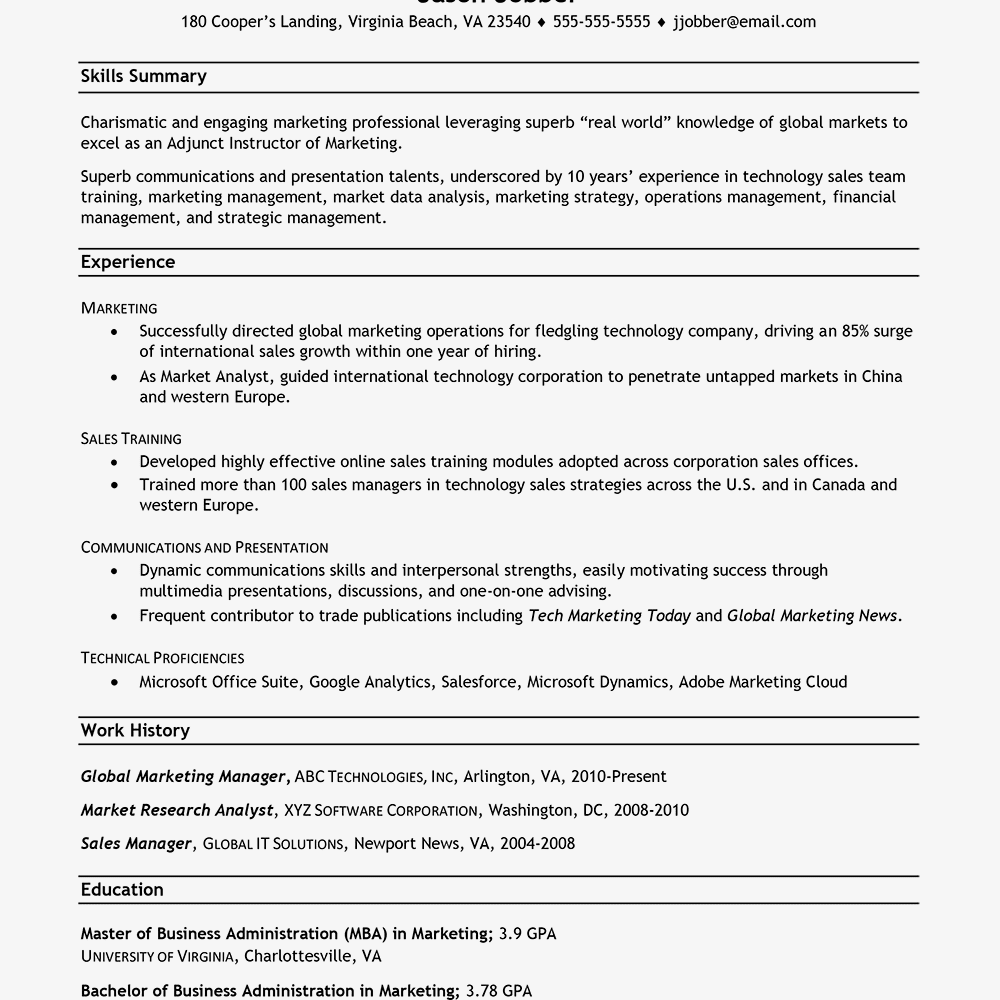 Sample Career Change Resume Text Version