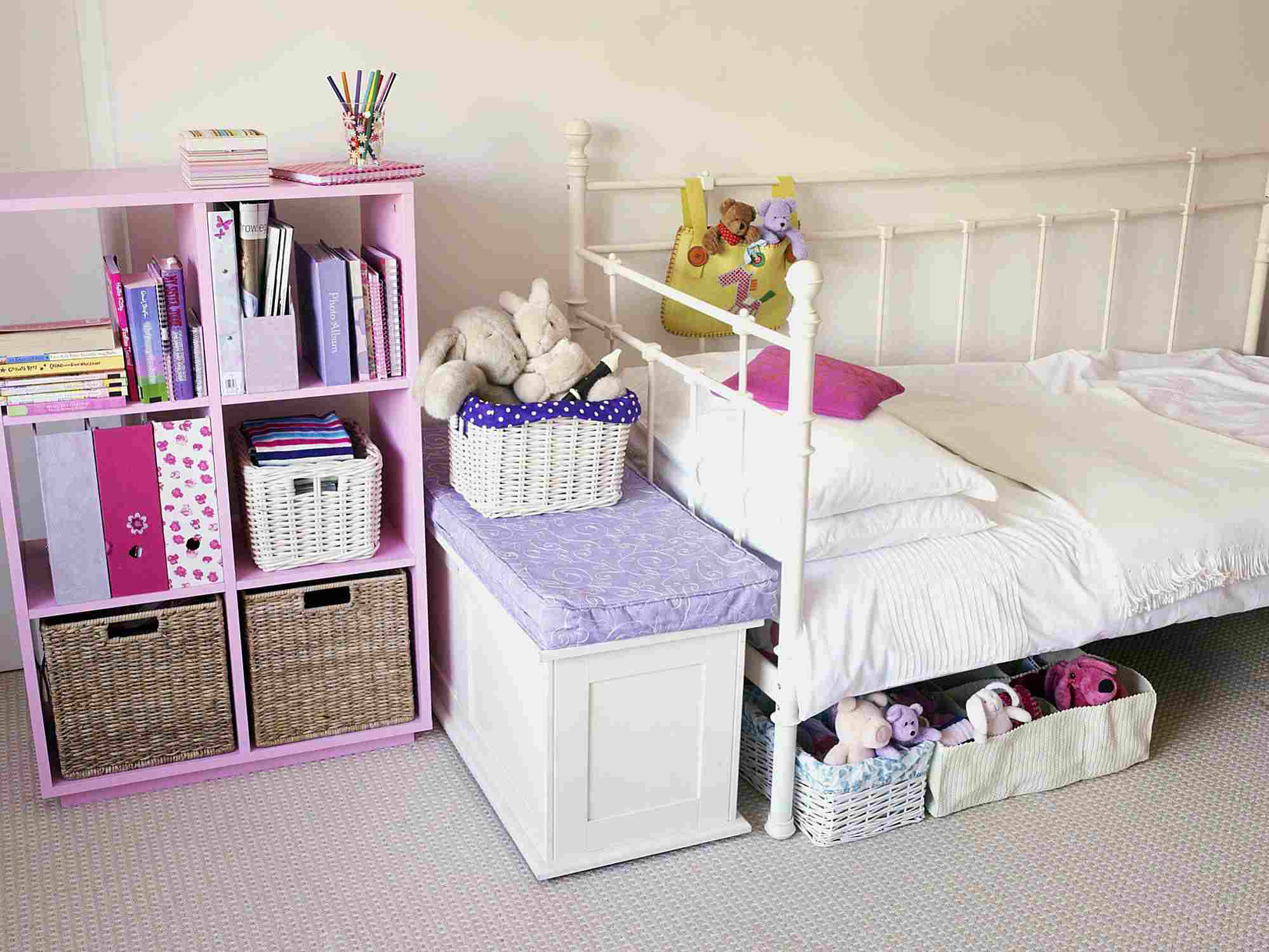 A picture of an organized bedroom