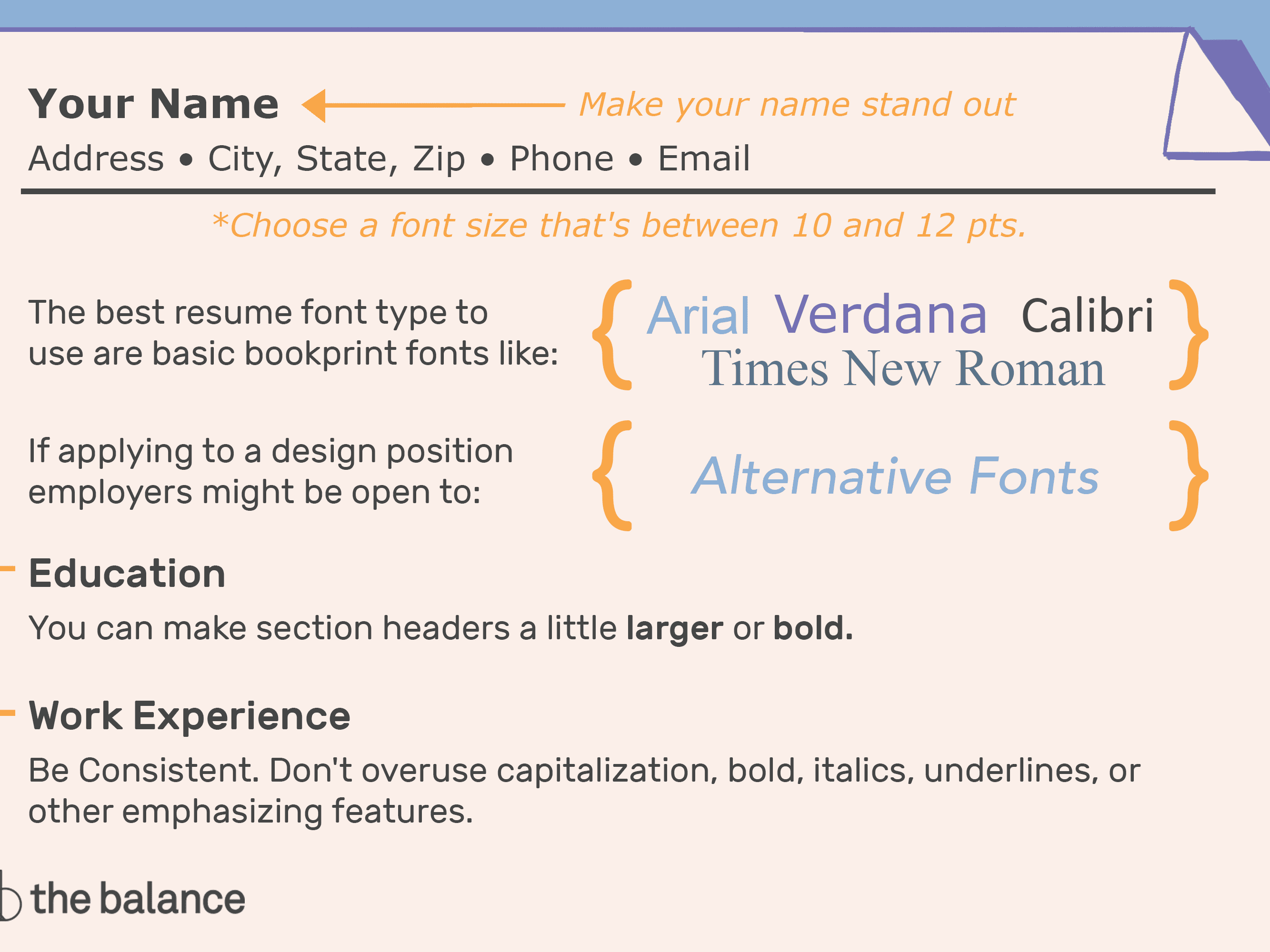 What Font Should A Resume Be.The Best Font Size And Type For Resumes