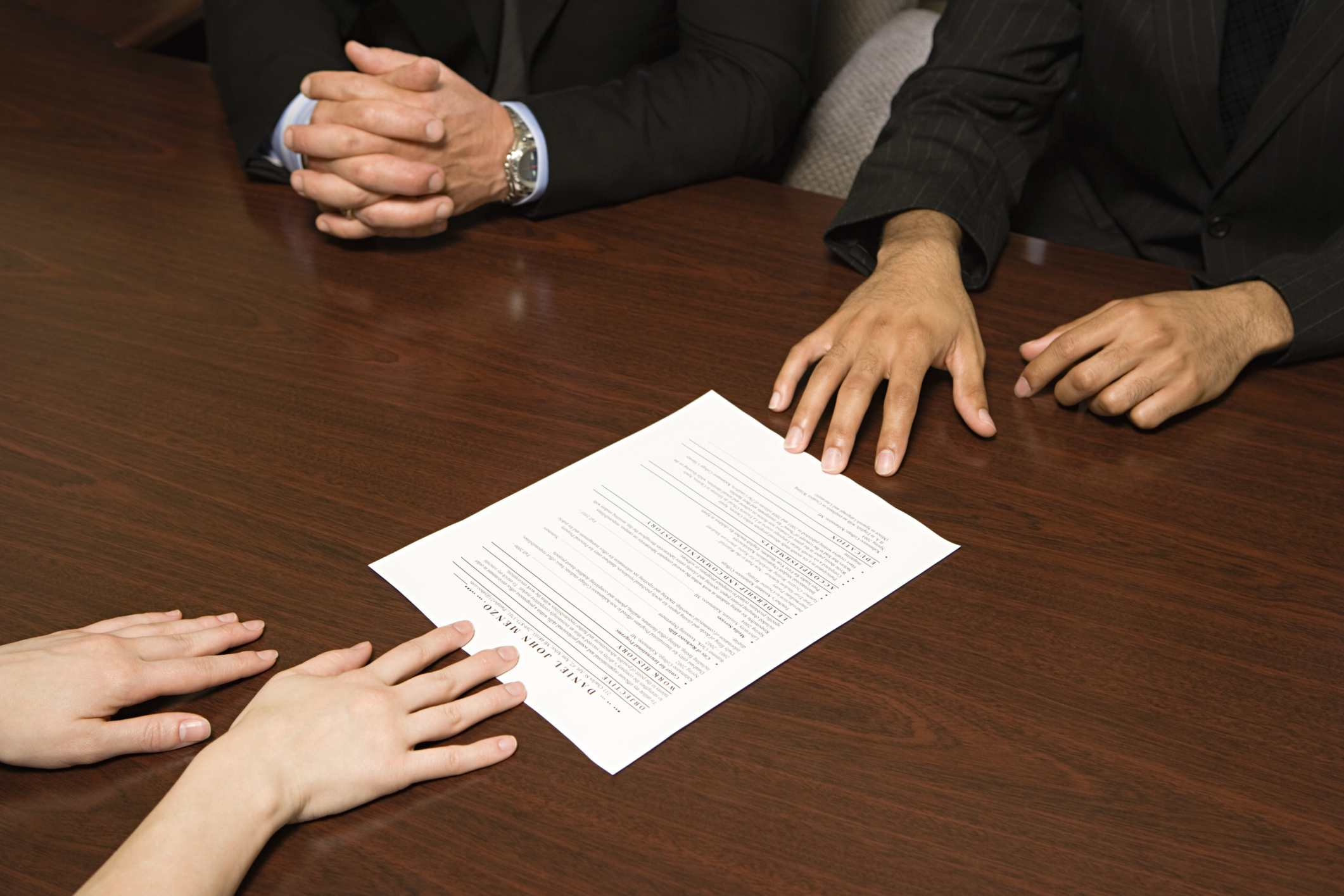 hands with resume