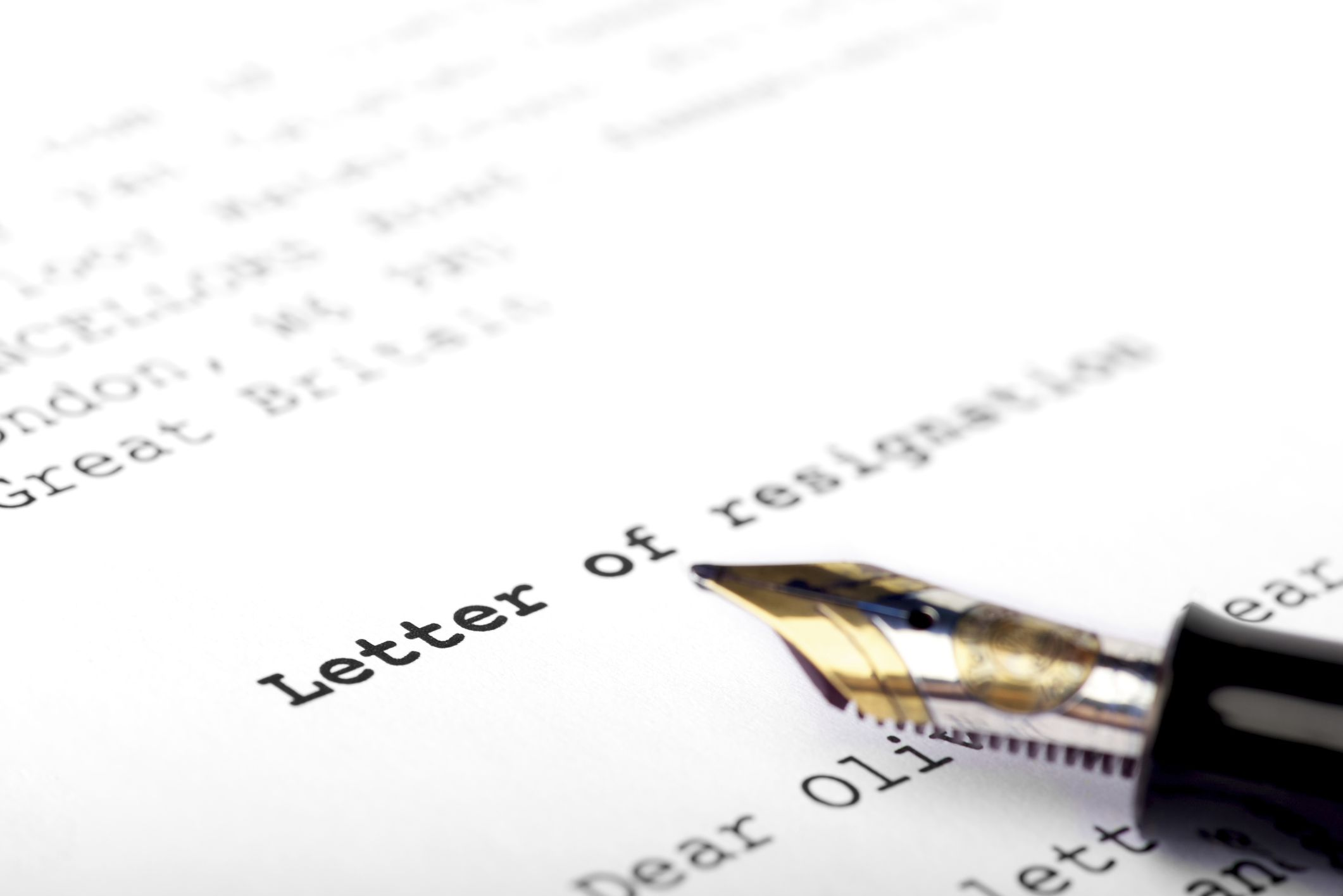 Things to Avoid Writing in a Resignation Letter