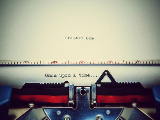 Once upon a time...typed onto a sheet in a typewriter