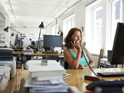 Businesswoman on the phone at business