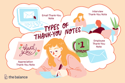 Types of thank you notes