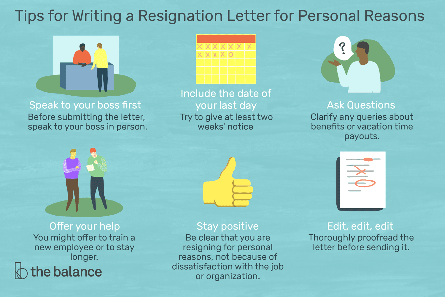 resignation letters for personal reasons