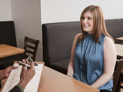 Business woman interviewing another woman