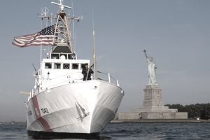U.S. Coast Guard Patrols New York Harbor