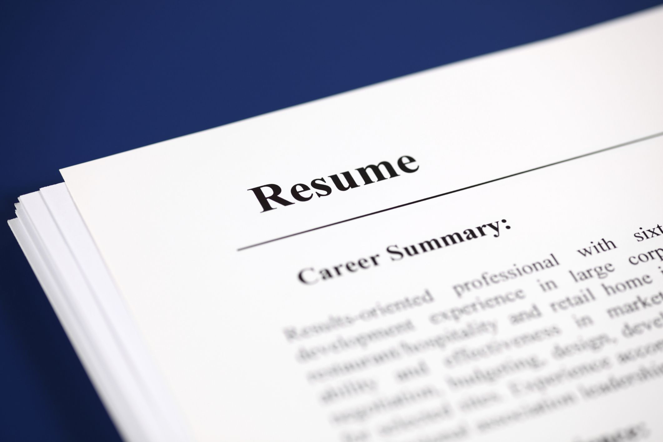 Examples Of Each Part Of A Resume