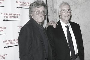 Authors Kurt Vonnegut and William Styron attending an event at The Paris Review Foundation