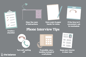 get some great phone interview tips