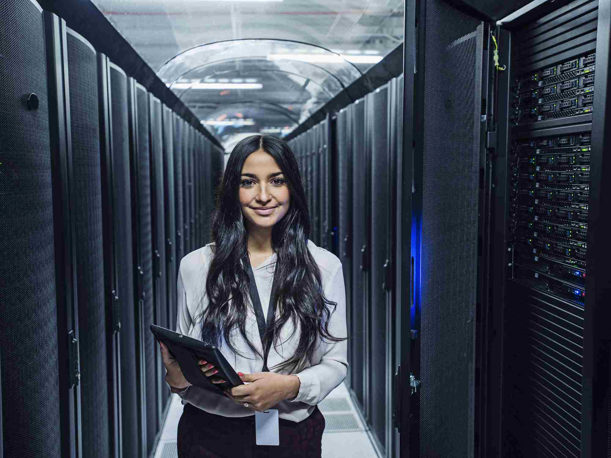 Computer and Information Systems Manager in server room