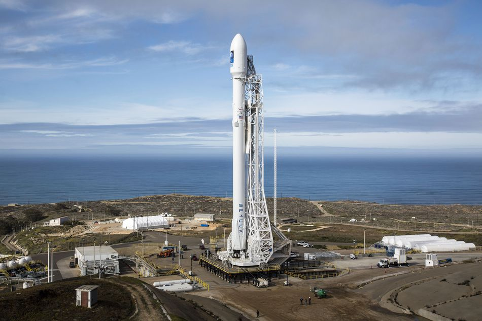 Falcon 9 at Vandenberg Air Force Base