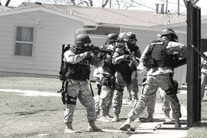 SWAT team at work