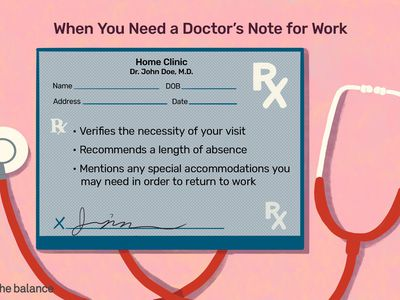 This illustration describes When You Need a Doctor's Note for Work and includes