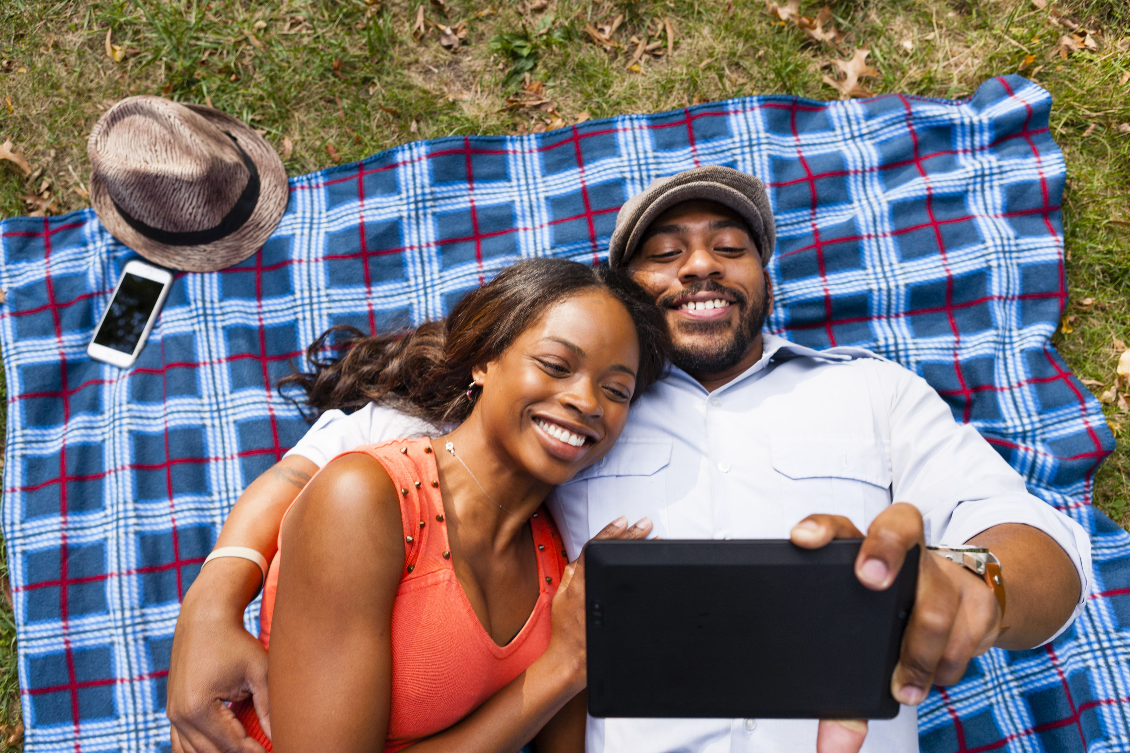 Couple taking time to have fun