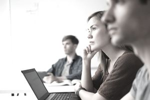 Attentive people in a meeting